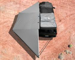 Nomadic Awning 180 - Dark Gray Cover With Black Cover Universal